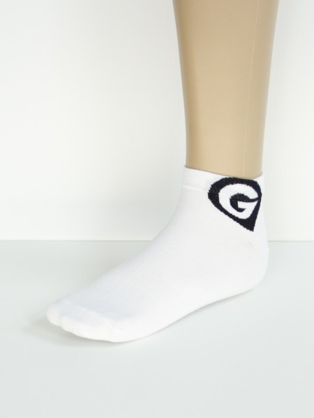 Sneakersocken white Logo