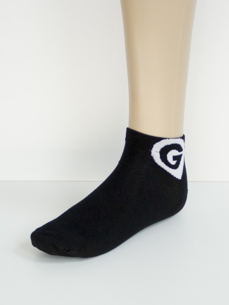 Sneakersocken black Logo